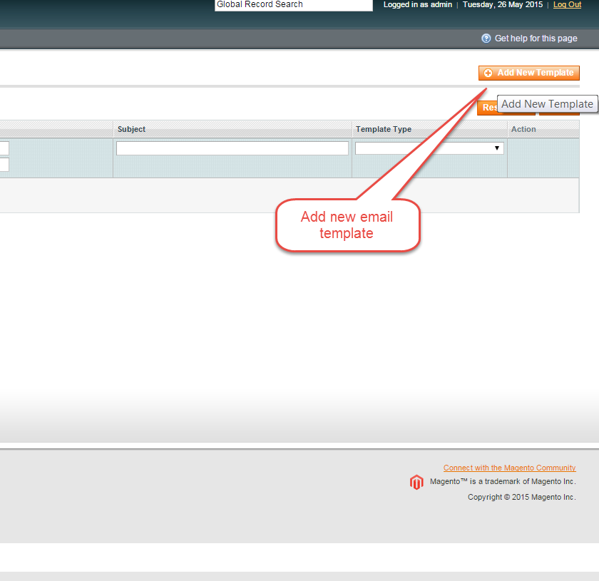 How to Create and change Custom Email Templates in Magento - WEBNOO ...